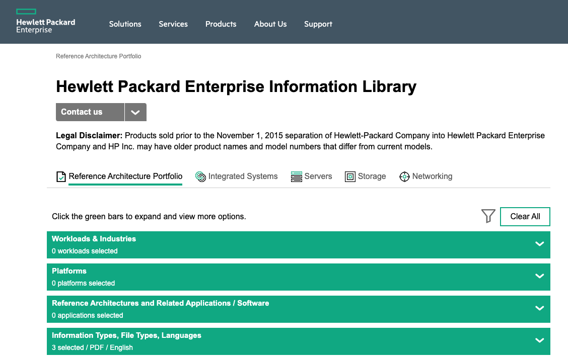 The Hpe Reference Architecture Library  U2013 All The Technical